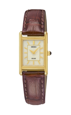 Seiko Women's Solar Brown Leather Strap Watch - SUP252 product image
