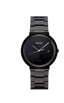 Seiko Men's Black-Ion Solar Watch - SNE481 product image