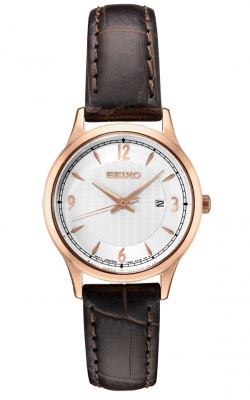 Seiko Women's Essentials Leather Strap Watch - SXDG98 product image