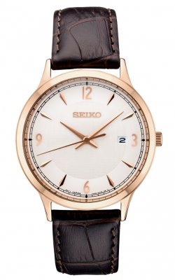 Seiko Men's Essentials Leather Strap Watch - SGEH88 product image