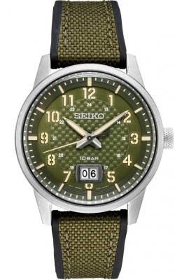 Seiko Essentials Men's Khaki Green Watch - SUR323 product image