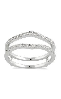 Two Hearts Diamond Solitaire Enhancer In 14K White Gold, 1/4ctw product image