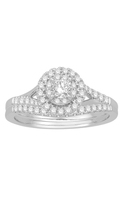 Two Hearts Diamond Bridal Set in White Gold, 5/8ctw product image