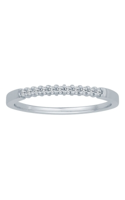 Two Hearts Diamond Anniversary Band In White Gold, 1/10ctw product image