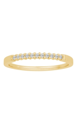 Two Hearts Diamond Anniversary Band In Yellow Gold, 1/10ctw product image