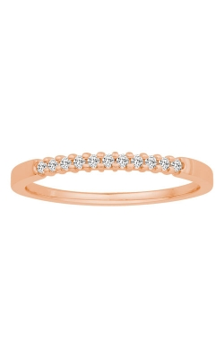 Two Hearts Diamond Anniversary Band In Rose Gold, 1/10ctw product image