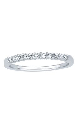 Two Hearts Diamond Anniversary Band In White Gold, 1/5ctw product image