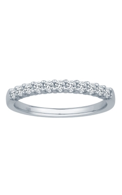 Two Hearts Diamond Anniversary Band In 14K White Gold, 1/3ctw product image
