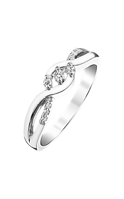 Two Hearts Diamond Twist Promise Ring In Sterling Silver, 1/10ctw product image