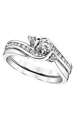 Two Hearts Diamond Bridal Set In 14K White Gold, 1/2ctw product image