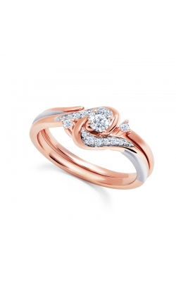 Two Hearts Diamond Bridal Set in Rose Gold, 1/4ctw product image