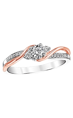 Two Hearts Diamond Bridal Set In 14K Two-Tone Gold, 3/8ctw product image