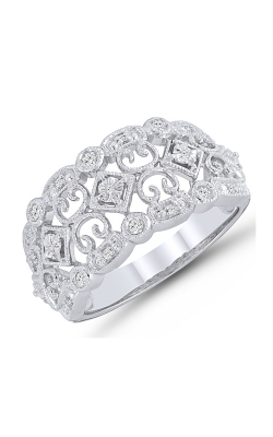 Two Hearts Diamond Fashion Ring In Sterling Silver, 1/10ctw product image