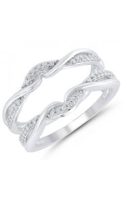 Two Hearts Twist Diamond Solitaire Enhancer In 14K White Gold, 1/5ctw product image