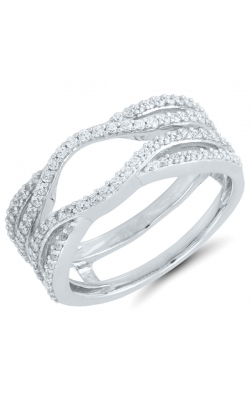Two Hearts Diamond Crossover Solitaire Enhancer In 14K White Gold, 1/2ctw product image