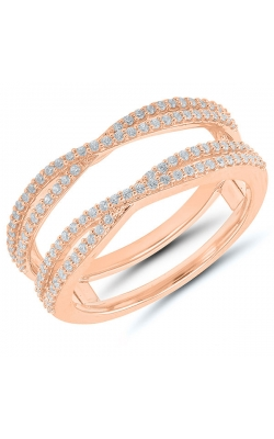 Two Hearts Crossover Diamond Solitaire Enhancer In 14k Rose Gold, 1/3ctw product image
