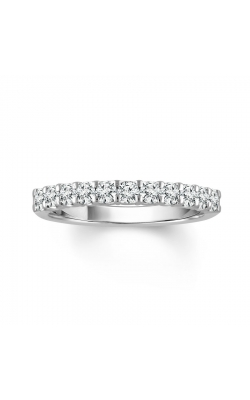 Two Hearts Diamond Wedding Band In 14k White Gold, 1/10ctw product image