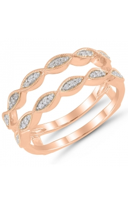 Two Hearts Diamond Solitaire Enhancer In 14k Rose Gold, 1/8ctw product image