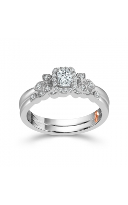 Two Hearts Radiant-Cut Diamond Bridal Set in White Gold, 1/3ctw product image