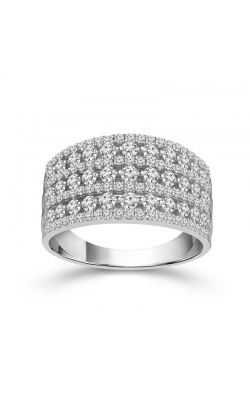 Two Hearts 7-Row Diamond Anniversary Band In White Gold, 1ctw product image