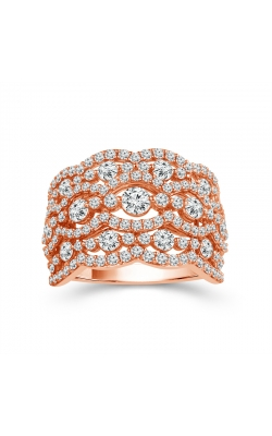 Two Hearts Multi-Row Diamond Anniversary Band In 10K Rose Gold, 2ctw product image