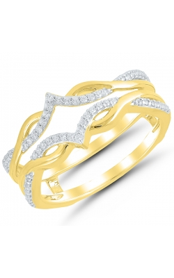 Two Hearts Diamond Crossover Solitaire Enhancer In 14K Yellow Gold, 1/5ctw product image