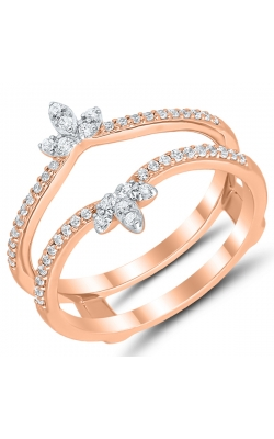 Two Hearts Diamond Solitaire Enhancer In 14K Rose Gold, 1/5ctw product image