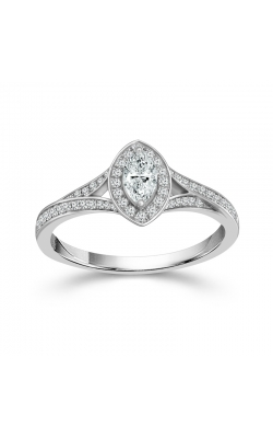 Two Hearts Marquise Diamond Engagement Ring in 14K White Gold, 1/3ctw product image