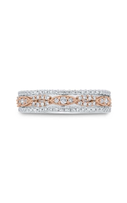 Two Hearts Diamond Anniversary Band In 10K Two-Tone Gold, 1/2ctw product image
