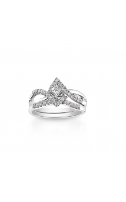 Two Hearts Princess-Cut Diamond Bridal Set In 14K White Gold, 1/2ctw product image